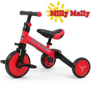 Milly Mally Rowerek 3w1 Optimus Red