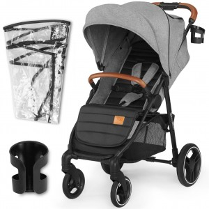 Kinderkraft Wózek Spacerowy GRANDE LX Grey